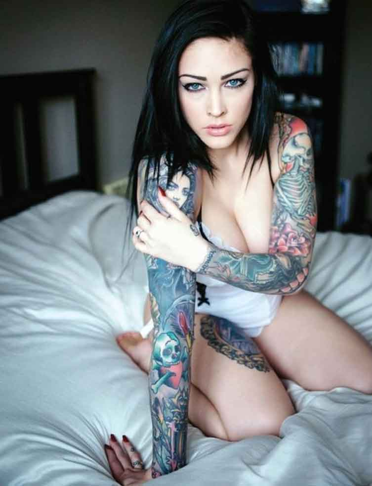 image Big tits tattoed babe reaches climax hd