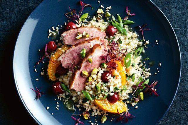 Roast Duck, Cherry & Couscous Salad