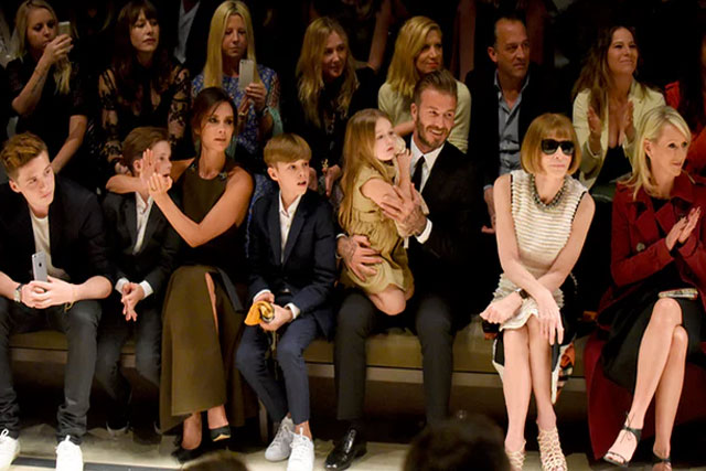 Victoria Beckham at a Burberry show in Los Angeles