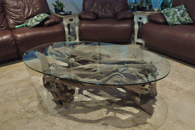 Trendy Driftwood Coffee Table