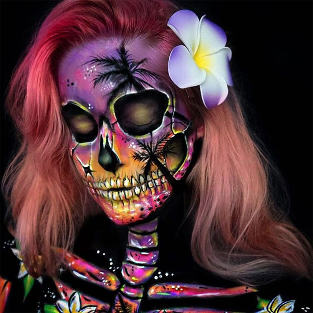 Tropical Skull Close up