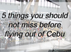 Miss Before Flying Out Of Cebu