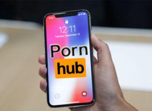 Pornhub Details Apple iPhone X