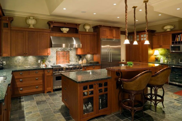 Home's Kitchen Has Ample Lighting