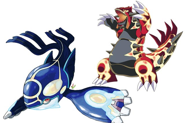 Primal Kyogre And Primal Gourdon
