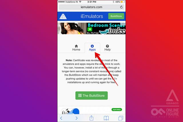 click 'Apps' tab