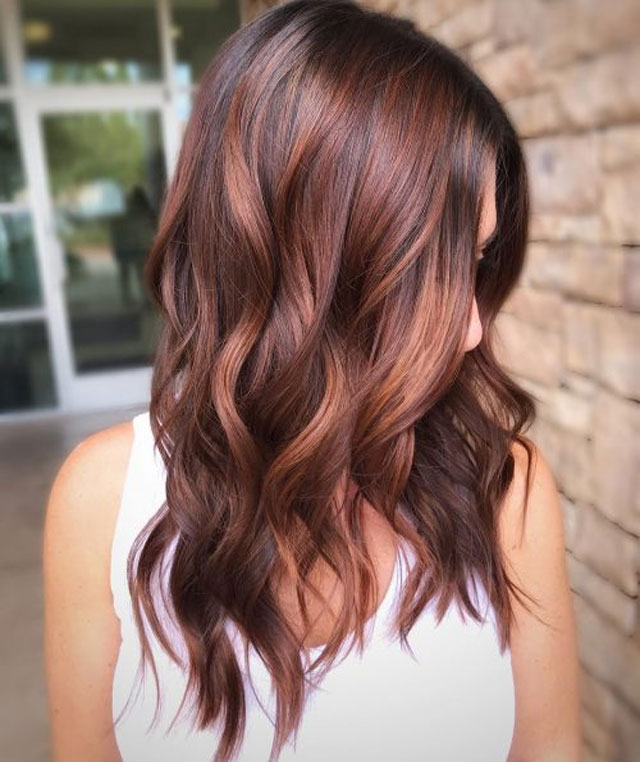 Red and Brown Balayage