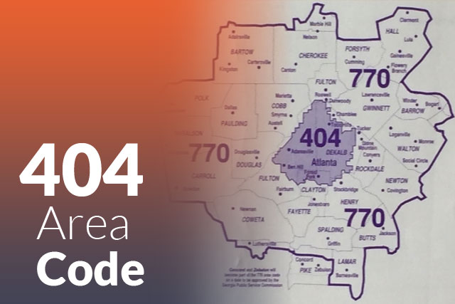 404 Area Code in Atlanta, Georgia