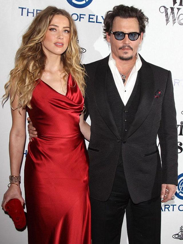 Depp married Amber Heard in February 2015